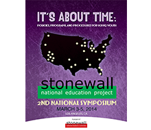 Booklet cover design and layout for Stonewall's 2nd annual symposium